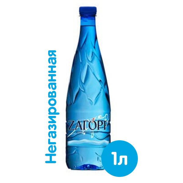 Вода Zagori 1 литр, без газа, пэт, 12 шт. в уп. фото