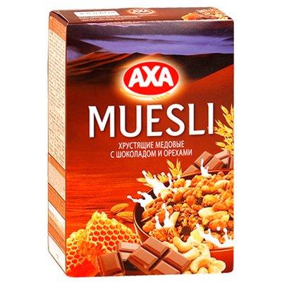 Мюсли АХА хрустящие медовые с шоколадом и орехами 250г (1шт)