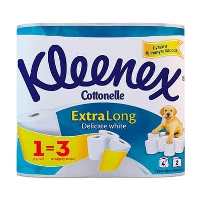 ��������� ������ Kleenex extra long 2-� ������� (4��)
