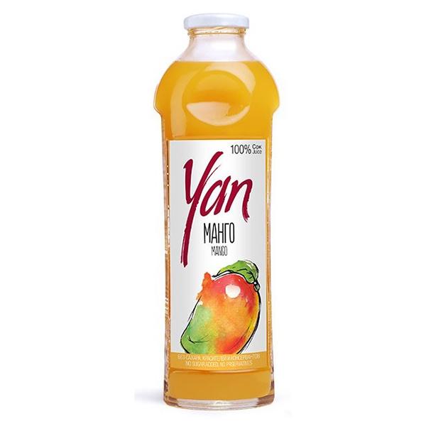 Сок YAN манго 0.93 литра стекло 6 шт. в уп..