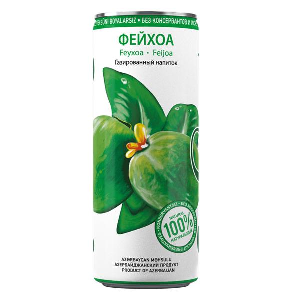 Лимонад Шахдаг Фейхоа 0.33 литра, ж/б, 24 шт. в уп.