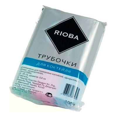 Трубочки для коктейлей Rioba 1000 шт. в уп. фото
