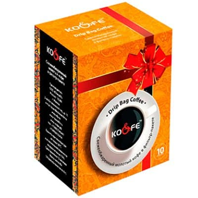 Drip Bag Coffee Колумбия в подарочной упаковке молотый в фильтр-пакете 1уп. (10шт.)