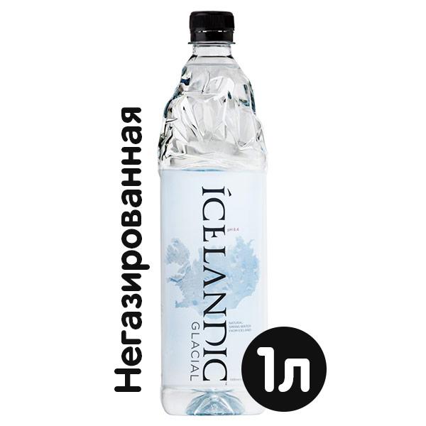 Вода Icelandic Glacial 1 литр, без газа, пэт, 12 шт. в уп. фото