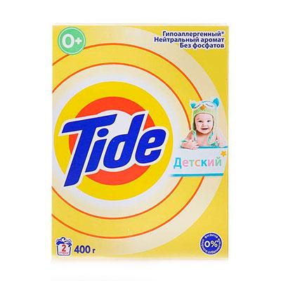 Стиральный порошок Tide для чувствительной детской кожи, автомат 400 гр фото