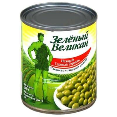 Горошек Зеленый великан 240 гр (4шт.)