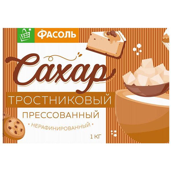 Сахар кусковой Фасоль тростниковый коричневый 1 кг