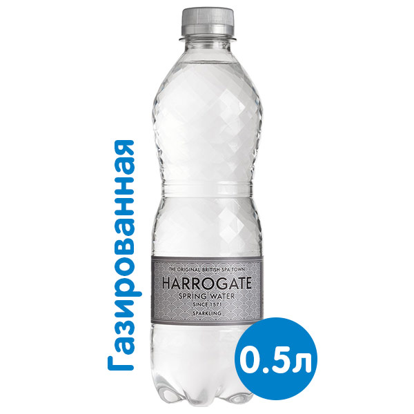 Вода Harrogate Spa / Харрогейт Спа 0.5 литра, газ, пэт, 24 шт. в уп. фото
