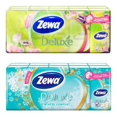 Носовые платочки «Zewa Deluxe» (10 – 10 шт)