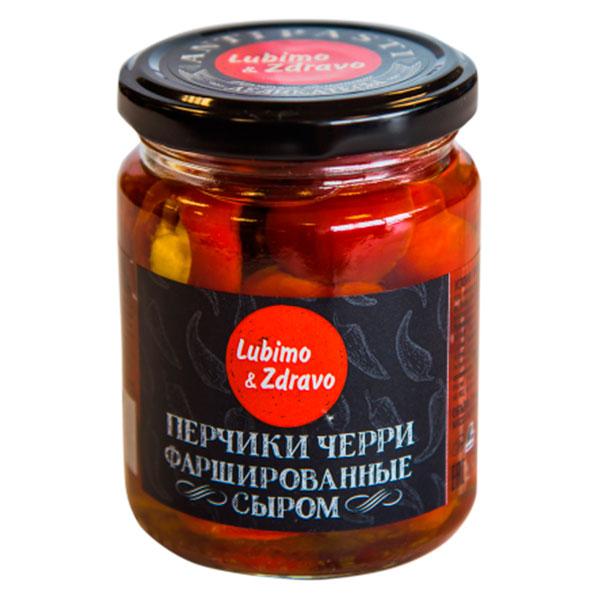 Перчики черри фаршированные сыром Lubimo & Zdravo 245 мл