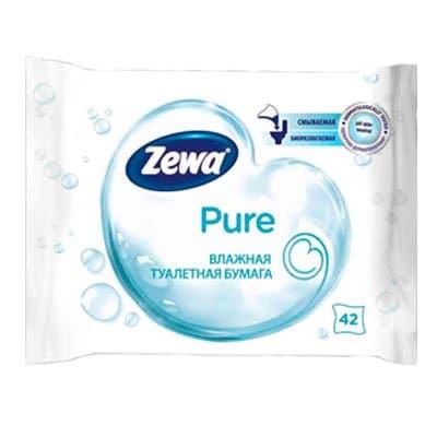 Влажная туалетная бумага Zewa Pure 42 листа фото