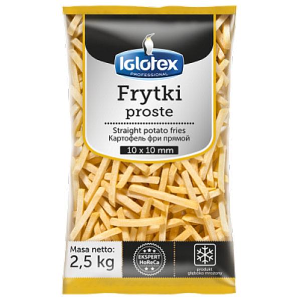 Картофель фри Iglotex professional 10Х10 мм замороженный 2,5 кг
