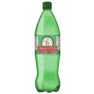 Вода Кашинская 1.5 литра, газ, пэт, 6шт. в уп.