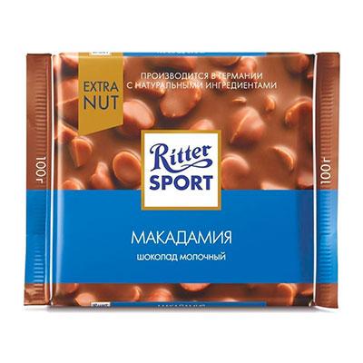 Шоколад Ritter Sport молочный с макадамией 100 гр фото