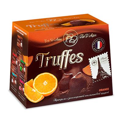 Конфеты По Д`Ари Orange трюфель с апельсиновой цедрой 160 гр