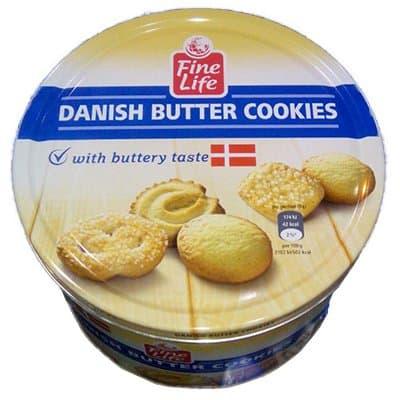 """Печенье """"Danish butter cookies"""" ж/б 1000гр (1шт.) фото"""