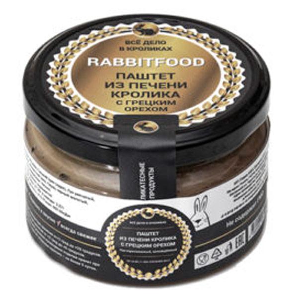 Паштет из мяса кролика Rabbit food с грецкими орехами 200 гр