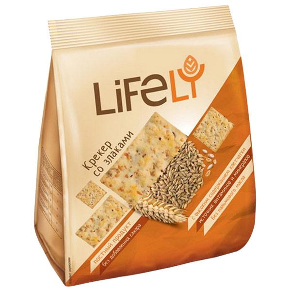 Крекер LifeLY со злаками 180 гр