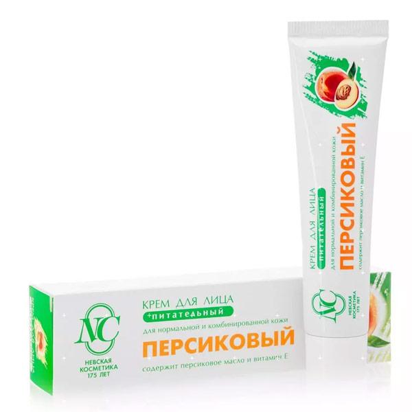 Крем для лица Невская косметика питательный персиковый 40 мл