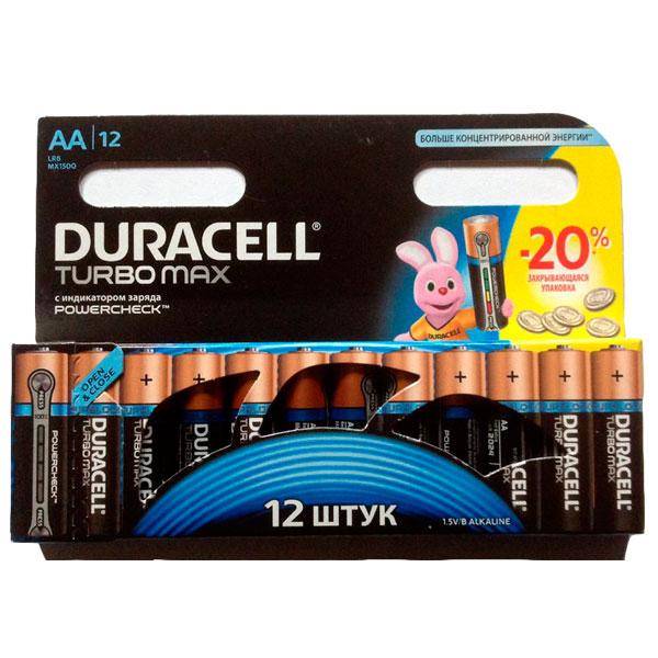 Батарейки серия AA Duracell Turbo max