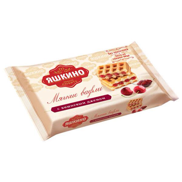 Вафли мягкие Яшкино с вишневым джемом 40 гр