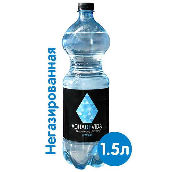 Купить со скидкой Родниковая вода Aquadevida 1.5 литра, без газа, пэт, 6 шт.в уп.