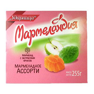Мармелад Мармеландия ассорти 255 гр