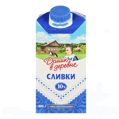 Сливки Домик в деревне 10% БЗМЖ 480 гр (12 шт) фото