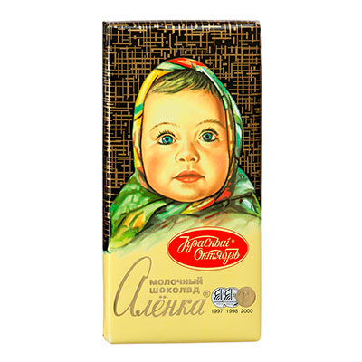Шоколад Алёнка молочный 100 гр фото