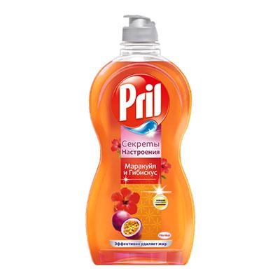 Средство для мытья посуды Pril секреты настроения маракуйя и гибискус 450 мл фото