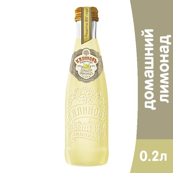 Калиновъ Лимонадъ Винтажный Домашний 0,2 литра, газ, стекло, 12 шт. в уп. фото