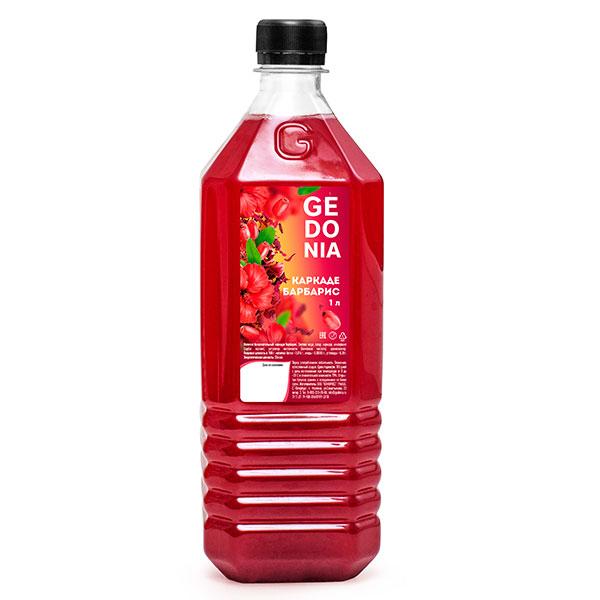 Напиток Gedonia Каркаде, барбарис 1 литр, без газа, пэт, 16 шт. в уп.