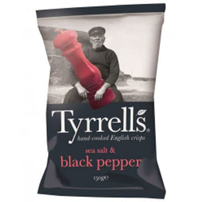 Чипсы Tyrrells с морской солью и черным перцем 150 гp фото