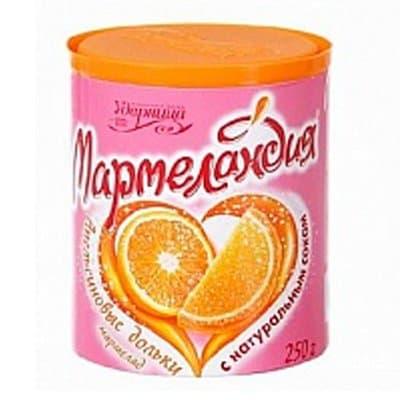 "Мармелад ""Мармеландия"" апельсиновые дольки 250гр (2шт.)"