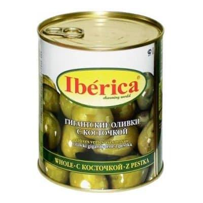 Оливки Iberica Гигантские с косточкой 875гр (1шт)