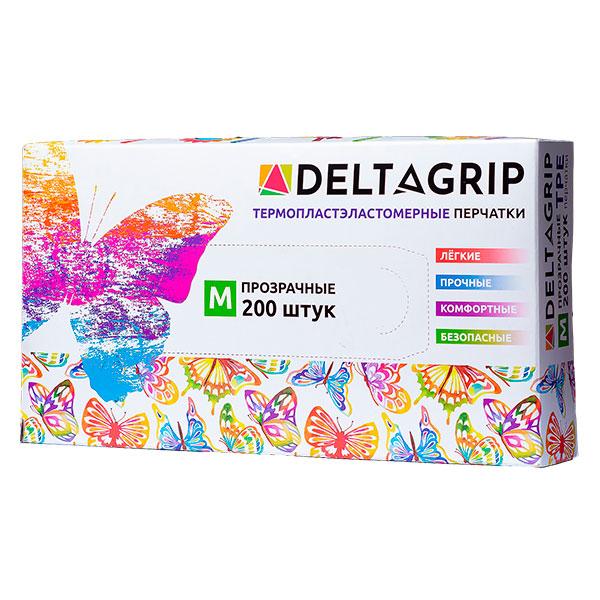 Перчатки Deltagrip TPE неопудренные 200 шт размер M