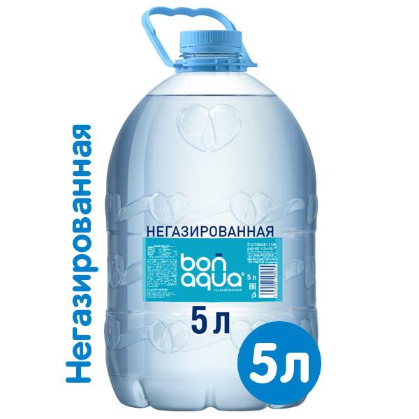 Вода BonAqua / БонАква 5 литров, 4 шт. в уп. фото