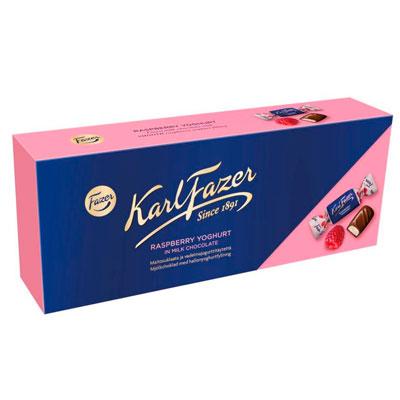 Конфеты FAZER Karl Fazer с начинкой из малинового йогурта 270 гр фото