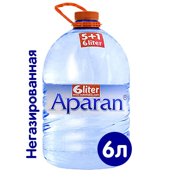 Вода Апаран 6 литров, 2 шт. в уп. фото