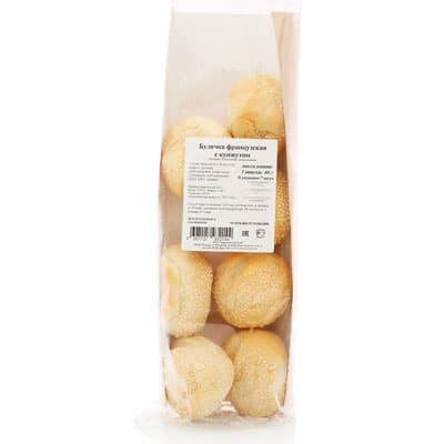 Булочка французкая с кунжутом Европейский хлеб 40 гр. (7 шт) фото