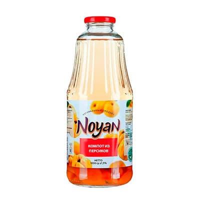 Компот Noyan из персиков 1,05 литра, стекло, 8 шт. в уп.