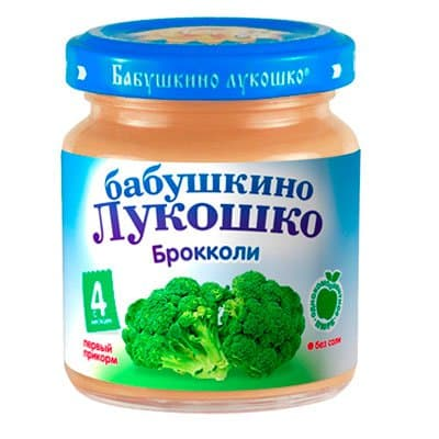Пюре Бабушкино Лукошко Брокколи (100гр) (6шт)