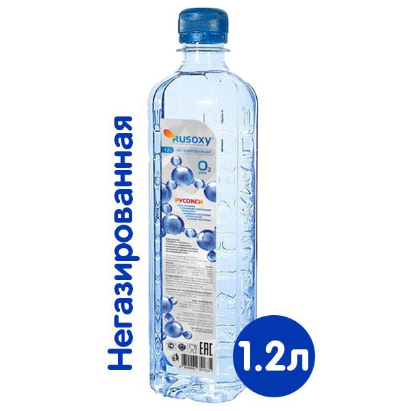 Вода Rusoxy / Русокси 1.2 литра, без газа, пэт, 6 шт. в уп. фото