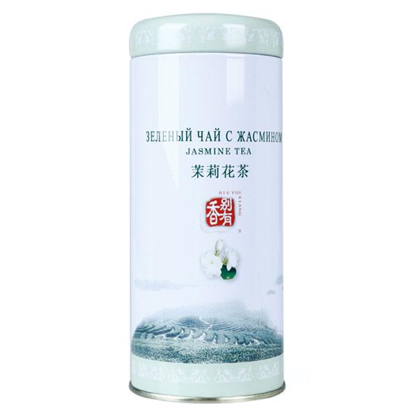 Чай зеленый Биошань с жасмином ж/б 125 гр фото