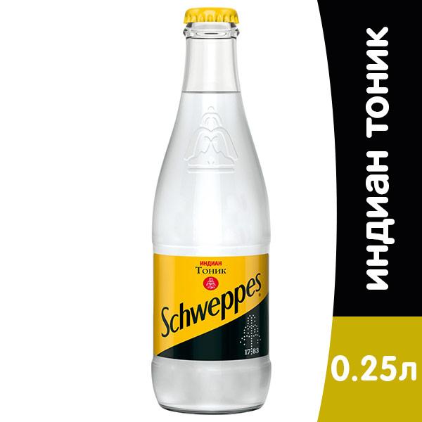 Schweppes / Швепс Indian Tonic 0.25 литра, стекло, 12 шт. в уп.