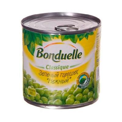 Горошек Bonduelle зеленый ж/б 400 гр фото