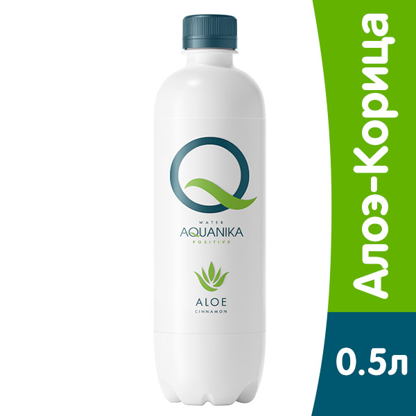 Вода Aquanika Positive Алоэ-Корица 0.5 литра, без газа, пэт, 12 шт. в уп.
