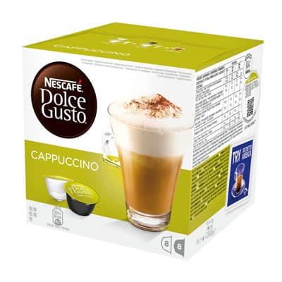 Кофе в капсулах Nescafe Dolce Gusto Cappuccino 8 шт - 17гр + 8 шт 8гр
