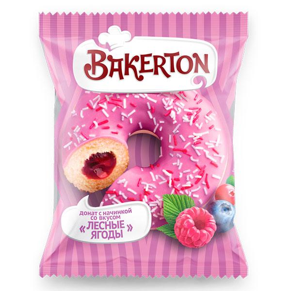 Донат глазированный Bakerton лесные ягоды 70 гр