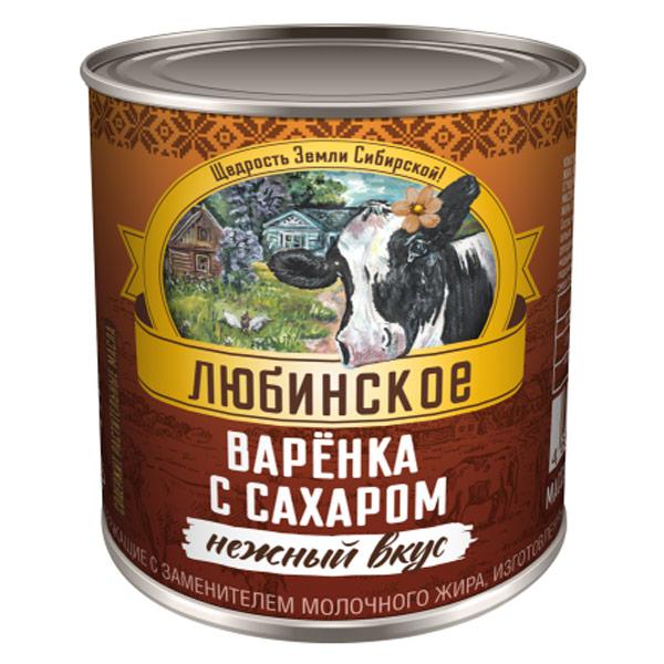 Варенка с сахаром Любинское 380 гр